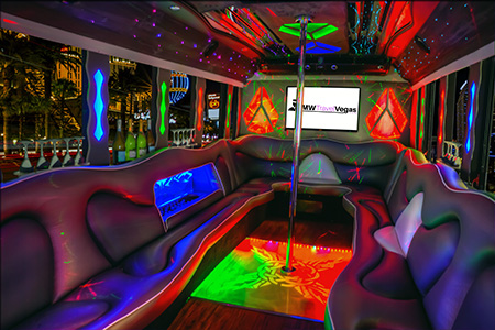 Inside View of Our 30 Passenger Party Bus